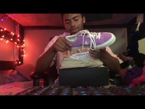 Unboxing The Tyler The Creator Converse Fuchsia Purple OX One star