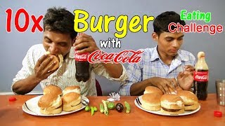 eating burger