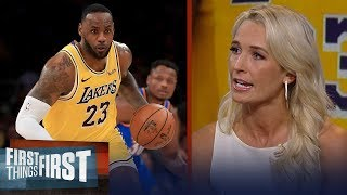 LeBron James is the MVP of the league right now — Sarah Kustok | NBA | FIRST THINGS FIRST