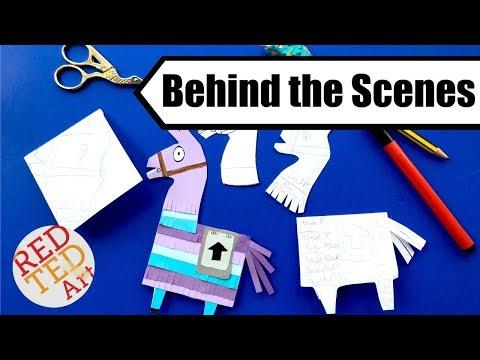 DIY Fortnite Llama - How to Design Bookmark Corners - Behind the Scenes