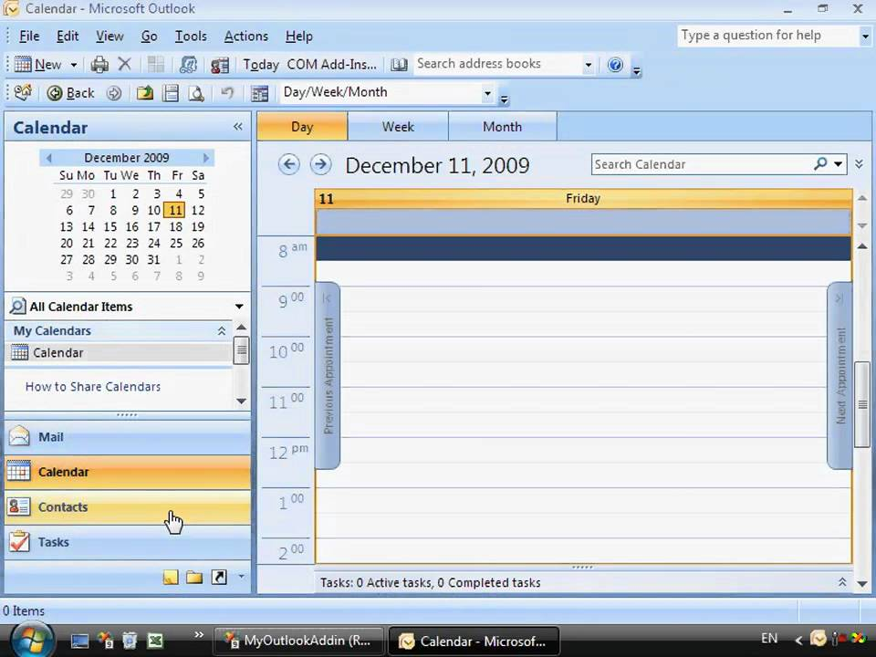 how to remove add in from outlook 2010