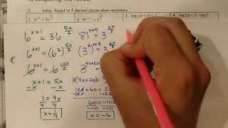Alg 2 5th 6wks Test Review Problems 1 to 4
