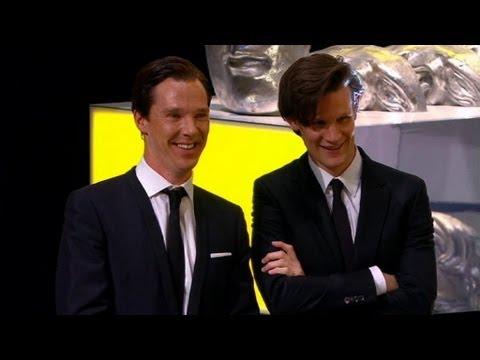 Matt Smith and Benedict Cumberbatch present Steven Moffat's Special BAFTA Award - BBC One