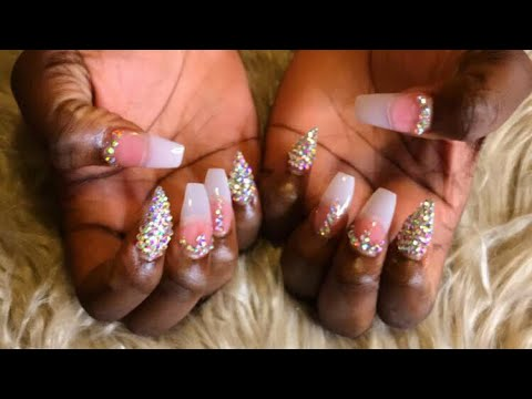 Bling Acrylic Nails | Acrylic Nail Tutorial thumbnail