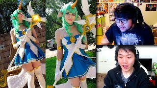 Box Box REALLY Likes Sneaky Cosplay   Bjergsen Gets Oneshot   Scarra   Dyrus   LoL Funny Moments
