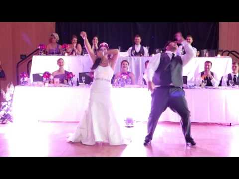 Bride and Brother Dance Routine at Wedding Reception