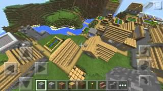Minecraft PE 0.12.3 / 0.12.2 - SEED DA MAIOR VILA DO MUNDO ? ( MINECRAFT PE SEEDS )