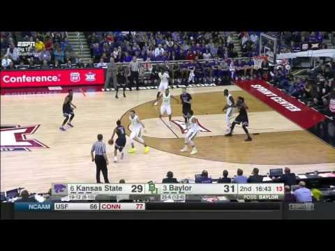 Kansas State vs Baylor   2016-17 Big 12 Men's Basketball Highlights