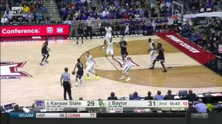 Kansas State vs Baylor | 2016-17 Big 12 Men's Basketball Highlights