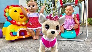Собачка Чи Чи лав не дает спать Маше и ее куклам