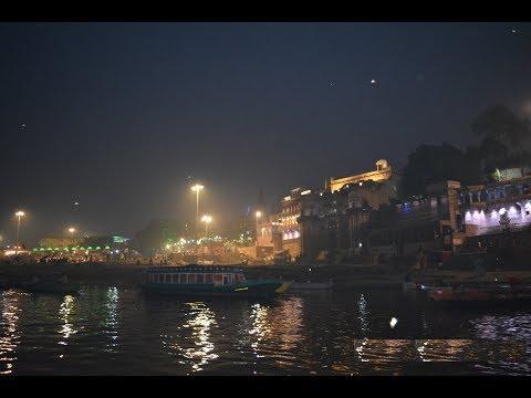 Boating in The river Ganges at Varanasi