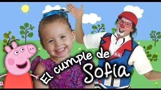Video-invitación: Cumpleaños de Sofía, tema Peppa Pig, con el payaso Che-ché