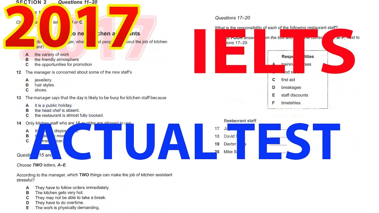 IELTS CAMBRIDGE 2017 LISTENING TEST 1 | IELTS LISTENING PRACTICE TEST 2017  WITH ANSWERS