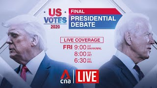 US Election 2020: Final presidential debate between Trump and Biden