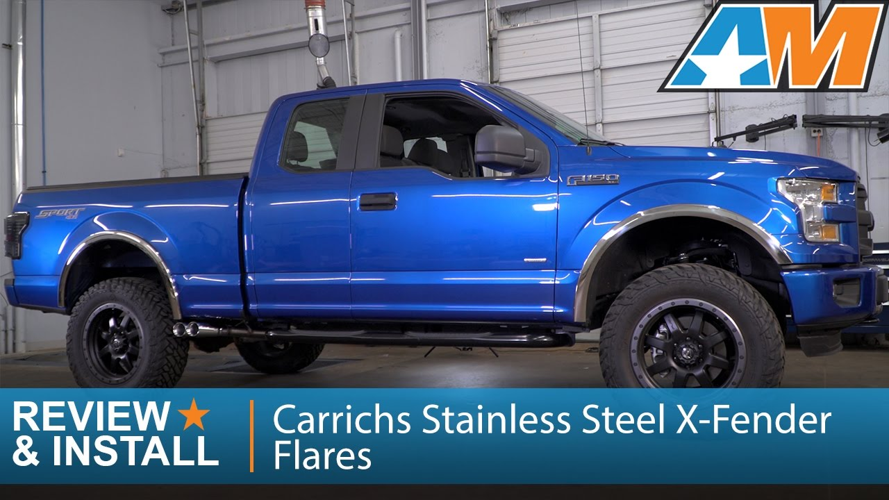 f 150 stainless steel x fender flares polished 15 17 f 150 w o oem flares  [ 1280 x 720 Pixel ]
