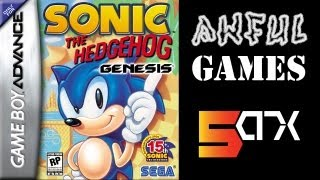 AWFUL GAME: Sonic the Hedgehog Genesis (Game Boy Advance) (Anniversary Edition)