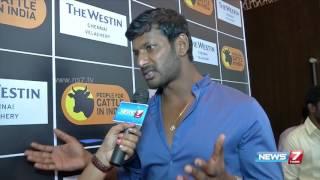 i m a law abiding citizen actor vishal on jallikattu   news7 tamil