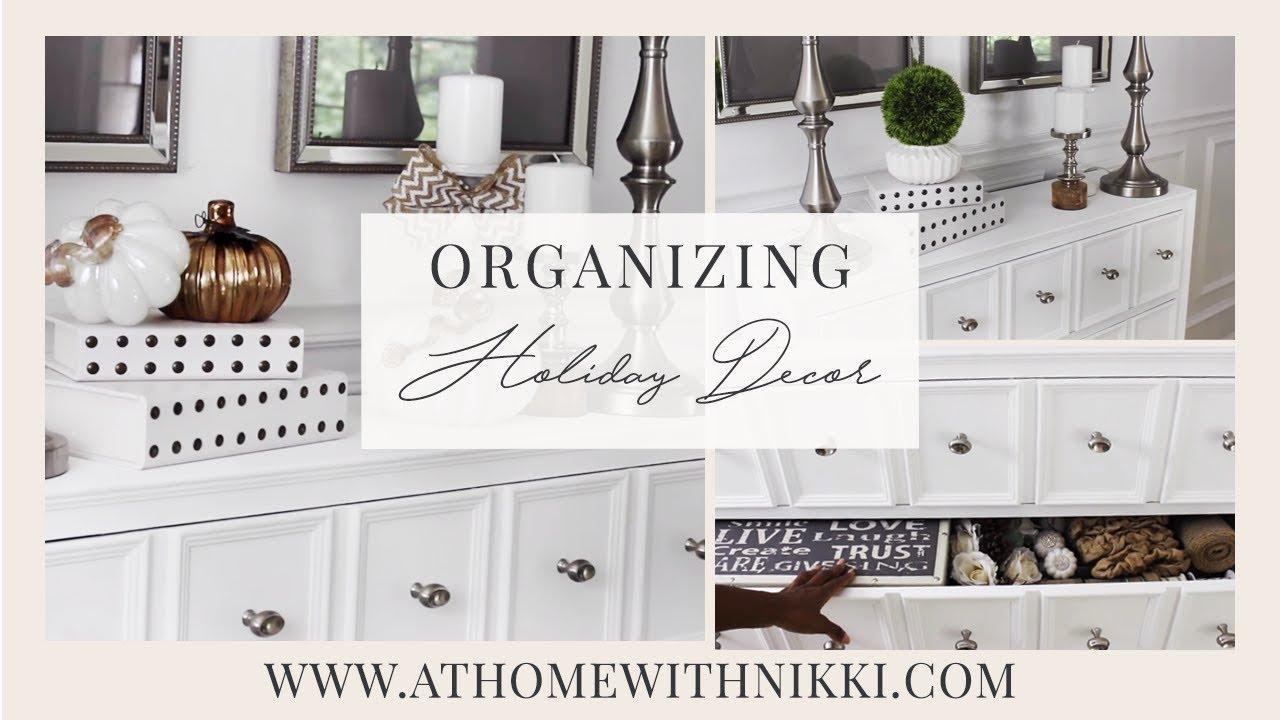 Home Organization | How To Declutter and Organize Seasonal and ...