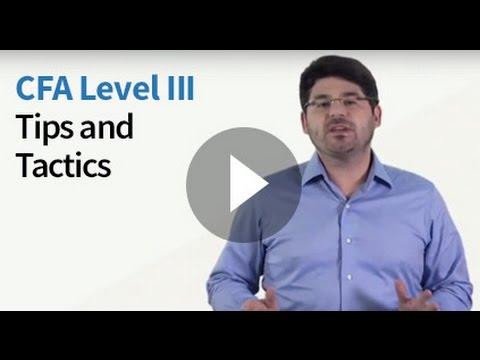 CFA Level III Tips and Tactics