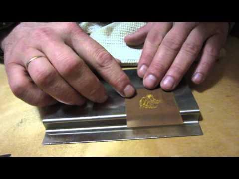Нанесение рисунка или надписи на металлические поверхности