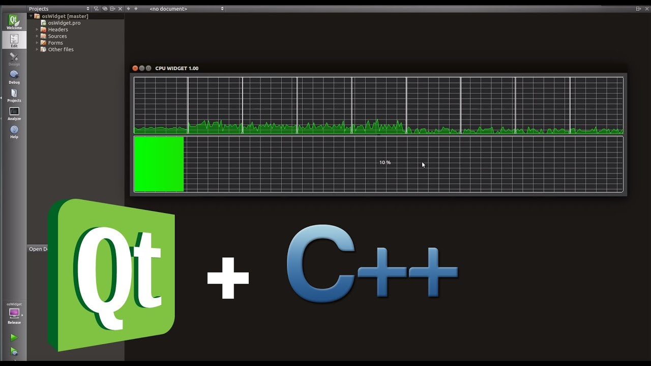 QT C++ : Performance Widget