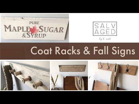 Coat Racks & Fall Signs | SCRAP WOOD PROJECTS | Farmhouse DIY's