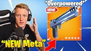 Tfue Explains/Shows Why NEW *Hand Cannon* Update Makes it BEST Item in Fortnite!