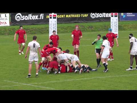 Półfinał Euro Rugby U-18 Anglia-Walia. Pobiedziska 2014-04-15