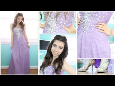 How To Get Ready For Prom Makeup Hair Dress Youtube
