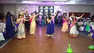 surprise family dance at my sisters indian wedding reception