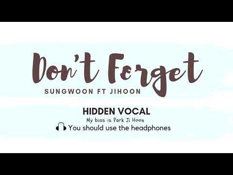 Don't Forget- Ha Sungwoon Ft Park Jihoon HIDDEN VOCAL