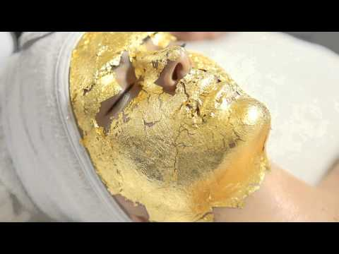 Nahaia Active Organics - 24kt Gold Facial Application in salon