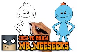 How to Draw Mr.Meeseeks | Rick and Morty (Step by Step Drawing Tutorial)