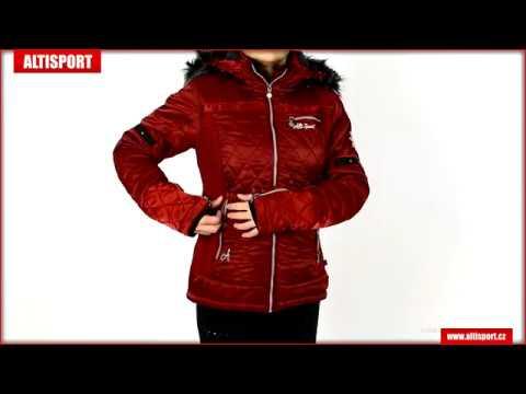 dámská zimní bunda altisport lalla allw17006 tmavě červená - YouTube 0ad91b149e7
