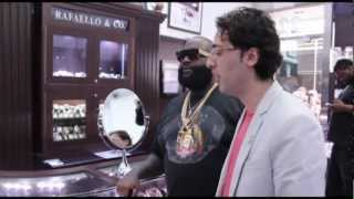 Rick Ross visits his personal Jewelers at Rafaello&Co