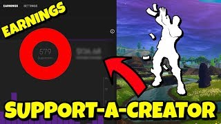 How much Money a Small Youtuber/Creator Earns from Fortnite Support-A-Creator