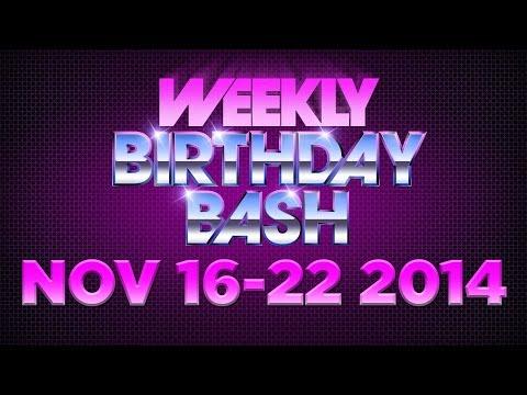 Celebrity Actor Birthdays - November 16-22, 2014 HD
