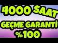 YOUTUBE 4000 SAAT GEÇME - Garanti 4000 Saat Aşma?