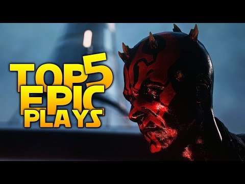 Star Wars Battlefront 2 Top 5 EPIC Plays: FEAR IS MY ALLY!