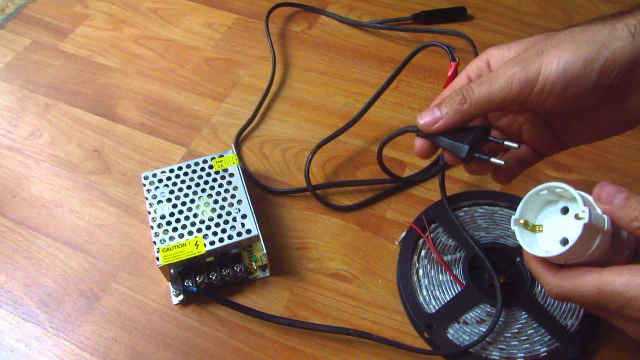 how to connect led driver transformer to flexible led strip [ 1280 x 720 Pixel ]
