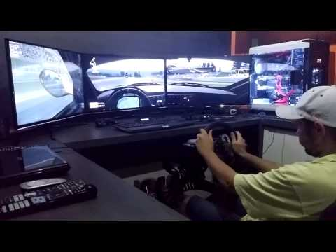 Project Cars Cockpit G27 3 Monitores Windows 10 PT