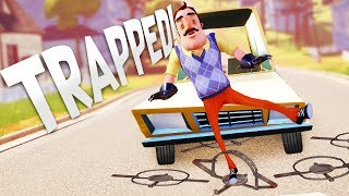 Trapping the Neighbor on the Road! - Hello Neighbor Beta  - Hello Neighbor Secrets