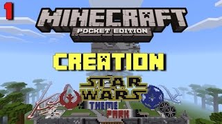 Ewok Hotel! | Star Wars Creation Theme Park Part 1 | Minecraft PE (Pocket Edition)