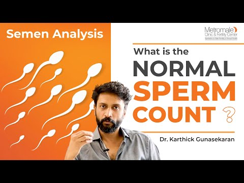 Normal sperm count in semen analysis
