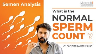 Normal sperm count in semen analysis