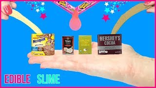 DIY Miniature Edible Slime! Chocolate, Bubblegum Slime DIYs! Tiny Slime Supplies! Slime You Can Eat!