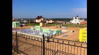 Фундамент УШП, площадью 150m2 для дуплекса (дома на 2 семьи).