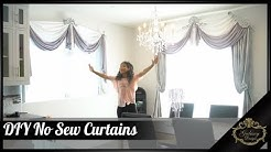 DIY No Sew Curtains – Fancy Drapes For The Dining Room | Galaxy Design Video #191