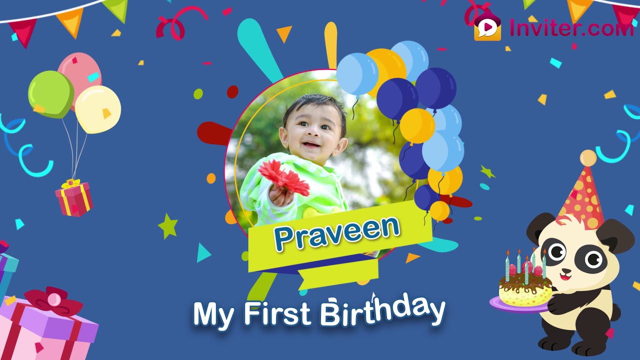 Birthday Video Maker  www.inviter.com