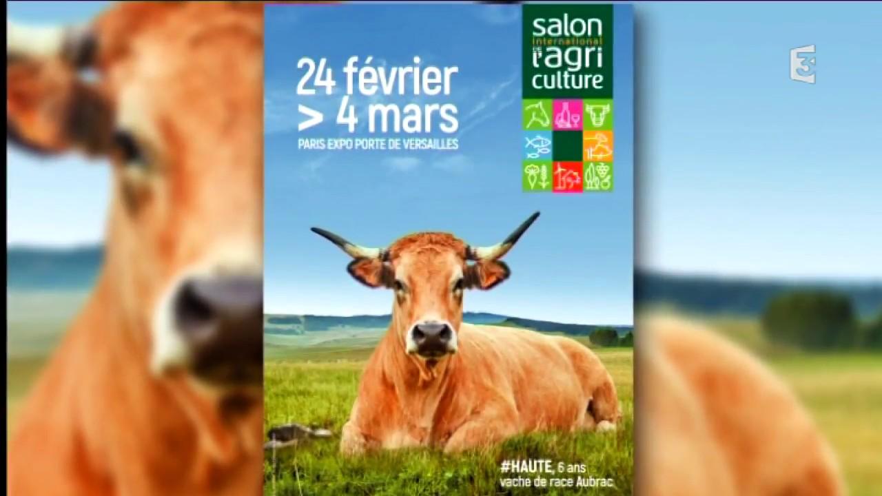 La vache aubrac haute en couleur sur l 39 affiche du salon de l 39 agriculture 2018 youtube - Salon de l agriculture dates ...